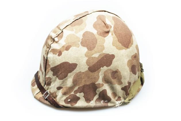USMC M1 helmet camo cover